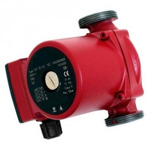 Circulates heating water around the system